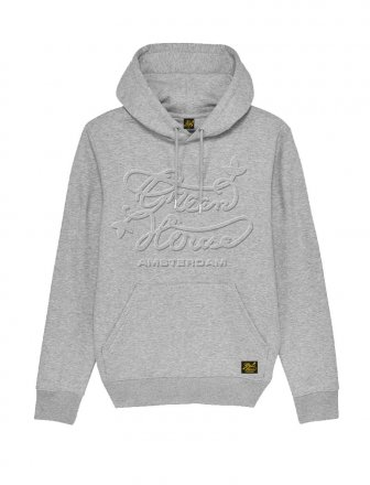 Green House Hoodie Embossed Grey